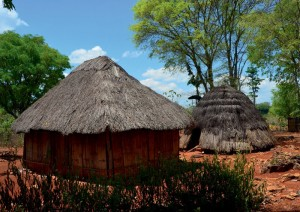 typical beehive huts